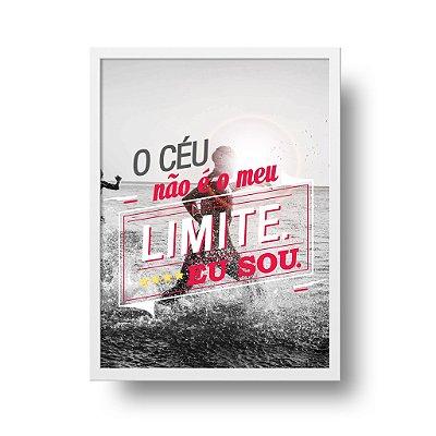 Quadro Poster Triathlon - O Céu Não é o meu Limite. Eu sou