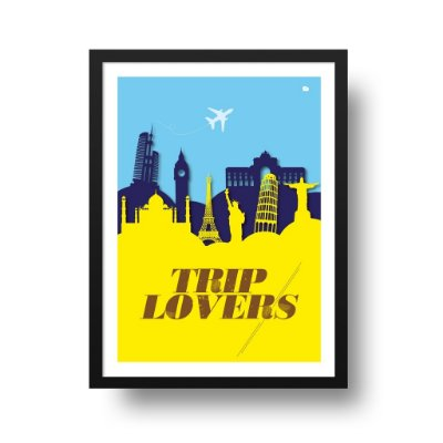 Quadro Poster Viagem - Trip Lovers