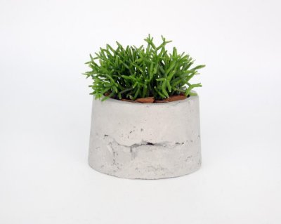 Vaso Cimento Concreto Para Plantas Paula Goedert - Cinza Claro