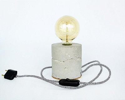 Luminária de Cimento Concreto Paula Goedert - Cinza Claro