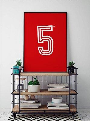 Quadro Decorativo Poster Alma Da City Colorado - Time, Futebol, Camisa, Vermelha