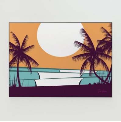 Quadro Decorativo Poster Hawaii Tom Veiga - Surf, Ondas, Praia