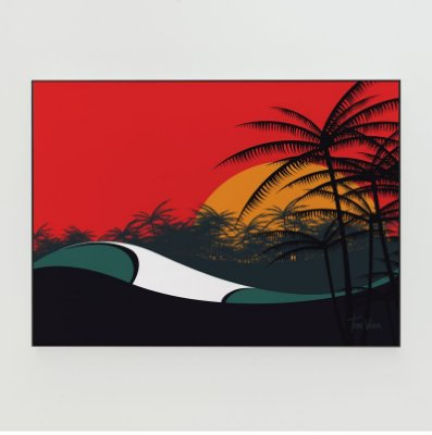 Quadro Decorativo Poster Indonesia Tom Veiga - Surf, Onda, Mar