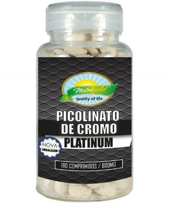 PICOLINATO DE CROMO PLATINUM - POTE 180 COMPRIMIDOS (800MG)