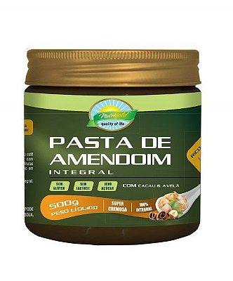 pasta de amendoim integral com cacau e avelã 500g nutrigold