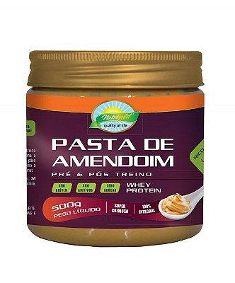 Pasta de amendoim com whey protein 500g nutrigold