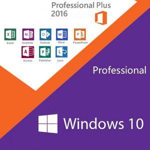 COMBO Microsoft Windows 10 Pro e Office 2016 Pro Plus 32/64 Bits Original + Nota Fiscal