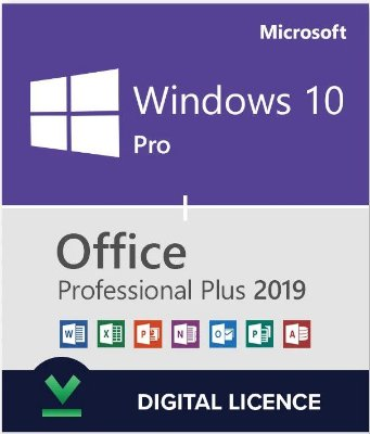 COMBO Microsoft Windows 10 Pro e Office 2019 Pro Plus 32/64 Bits Original + Nota Fiscal