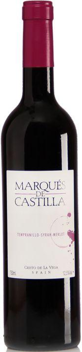 Marqués de Castilla Tempranillo - Syrah-Merlot 2016 - 750ml