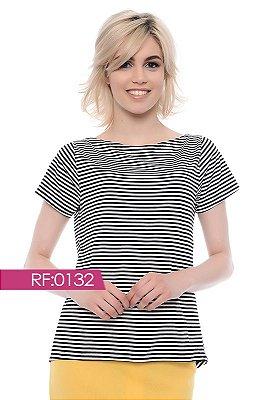 Blusa listrada p&b - RF0132