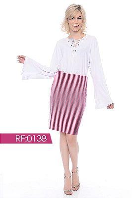 Blusa branca com ilhós - RF:0138