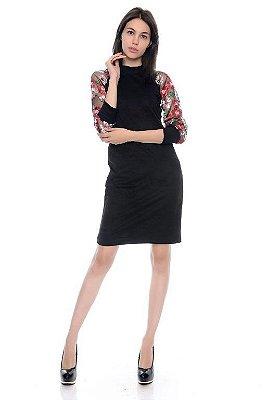 Vestido Flores Bordado - RF:0252