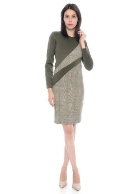 Vestido Alfaiataria Xadrez com Recortes - RF:0254