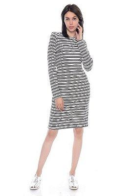 Vestido Malha Listrado - RF:0256