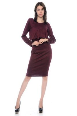 Vestido Xadrez Marssala - RF:0257