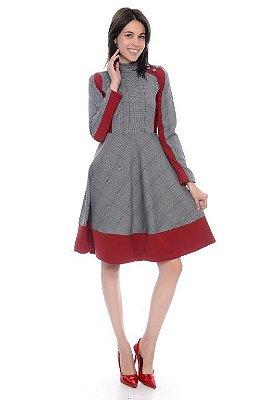 Vestido Gode Xadrez com Recortes - RF:0260