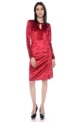 Vestido Veludo Vermelho - RF:0261