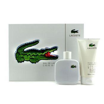 Kit Eau De Lacoste Blanc L.12.12 Edt Spray 100ml + Gel Douche Shower de 150 ml