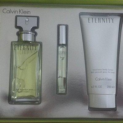 Kit Perfume Eternity Feminino EDP 100ml + Miniatura 15ml + Creme 200ml