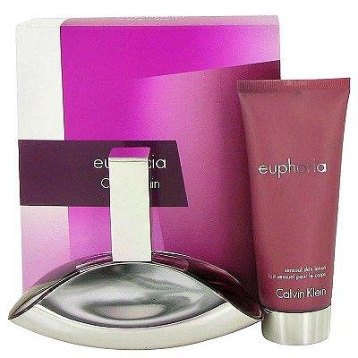 Euphoria Calvin Klein Edp Perfume 100ml + Sensual Skin Lotion/Lait Sensuel Pour Le Corps 100ml