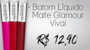 Batom Líquido Glamour Vivai