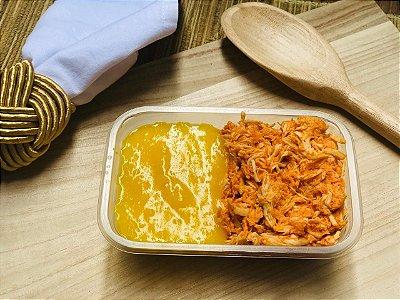 Purê de mandioquinha com frango