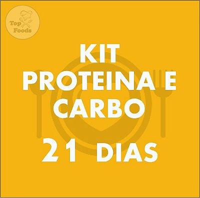 KIT PROTEÍNA E CARBOIDRATO 21 DIAS