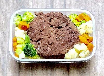 Hambúrguer de Patinho com mix de legumes
