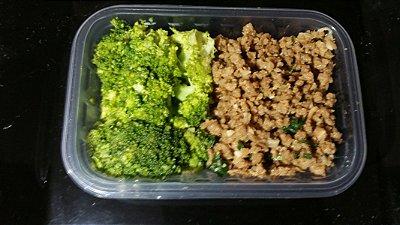 Brócolis com carne de soja 200gr