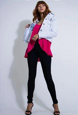 Calça Hot Pants Skinny Jeans Black - LADY ROCK - 9293A