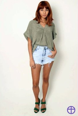 Shorts Jeans - LADY ROCK - 5285