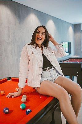 Jaqueta Jeans Branca - Lady Rock