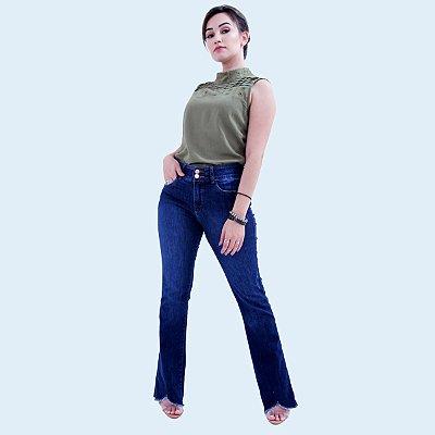 Calça FLARE Jeans Azul Médio - Loopper - K2890162