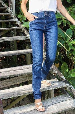 Calça Cigarrete Jeans Escuro - Loopper - K2936261