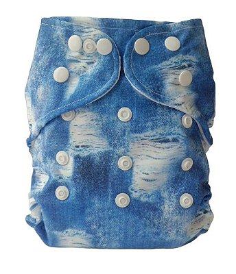 Fralda Jeans Rasgadinho com proteção UV50+