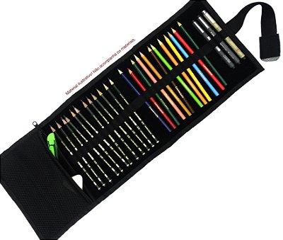 Pacote de Revenda contendo 10 Estojos de Enrolar Mini Preto Fosco (p)