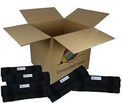 Pacote de Revenda contendo 10 Estojos de Enrolar Preto fosco (m)