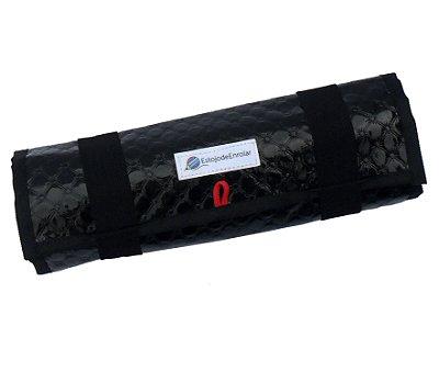 Pacote de Revenda contendo 10 Estojo De Enrolar Preto Brilho (m)