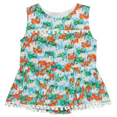 Vestido Harmonia Elefantes