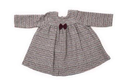 Vestido Rodado Tricot Bordô