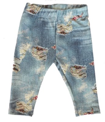 Legging Jeans Rasgado Flor