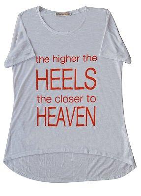 Camiseta Adulto Branca Heels