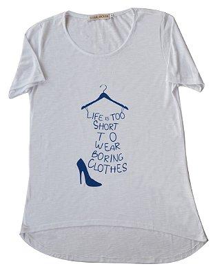 Camiseta Adulto Branca Life