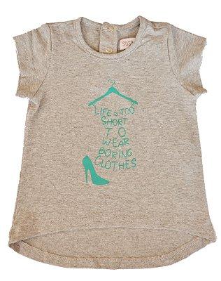 Camiseta Bebê Cinza Life
