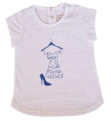 Camiseta Bebê Branca Life