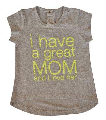 Camiseta Bebê Cinza Great Mom
