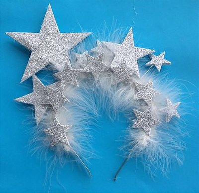 Tiara Estrelas Prata