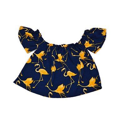 Blusa ombro a ombro Flamingo