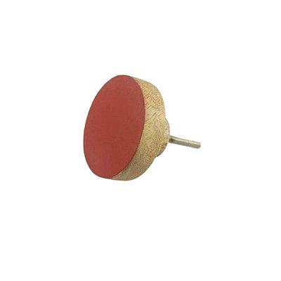 Puxador Madeira Redondo Vermelho 58598