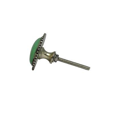 Puxador Porta Ceram/Metal Verde 003098